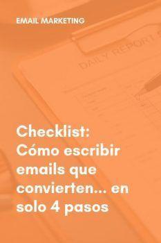 Emails que convierten - checklist